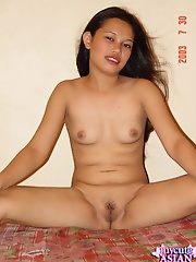 Cute petite asian show us her wet pussy